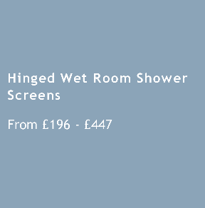 Hinged Wet Room Shower Screens